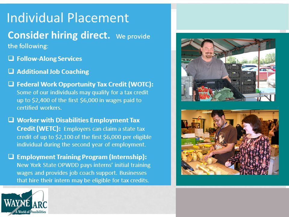 Individual Placement Consider hiring direct.