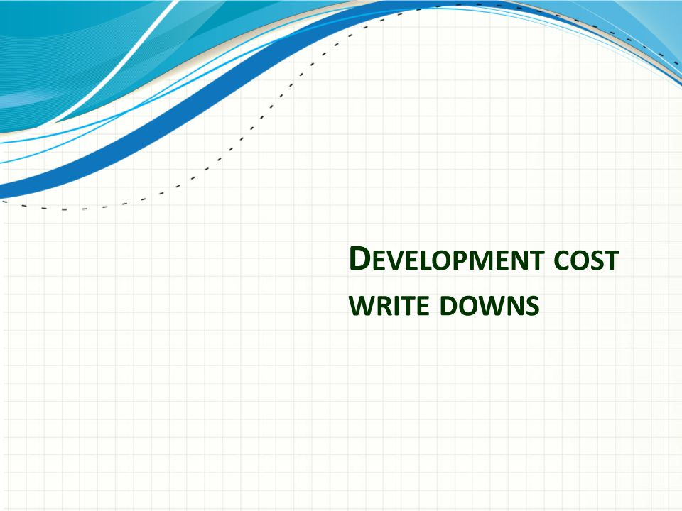 D EVELOPMENT COST WRITE DOWNS
