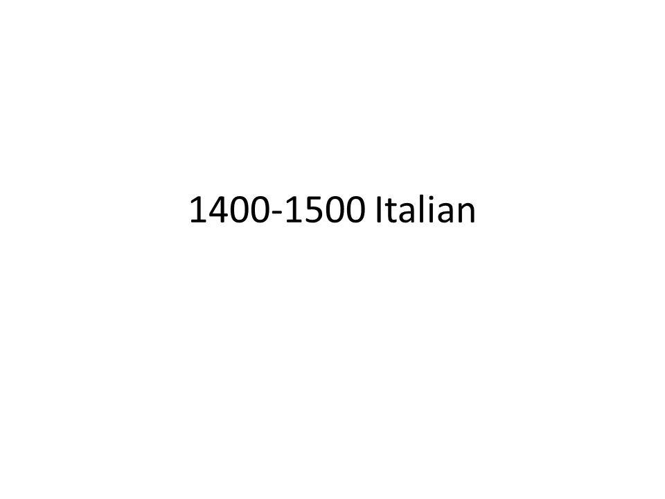 1400-1500 Italian