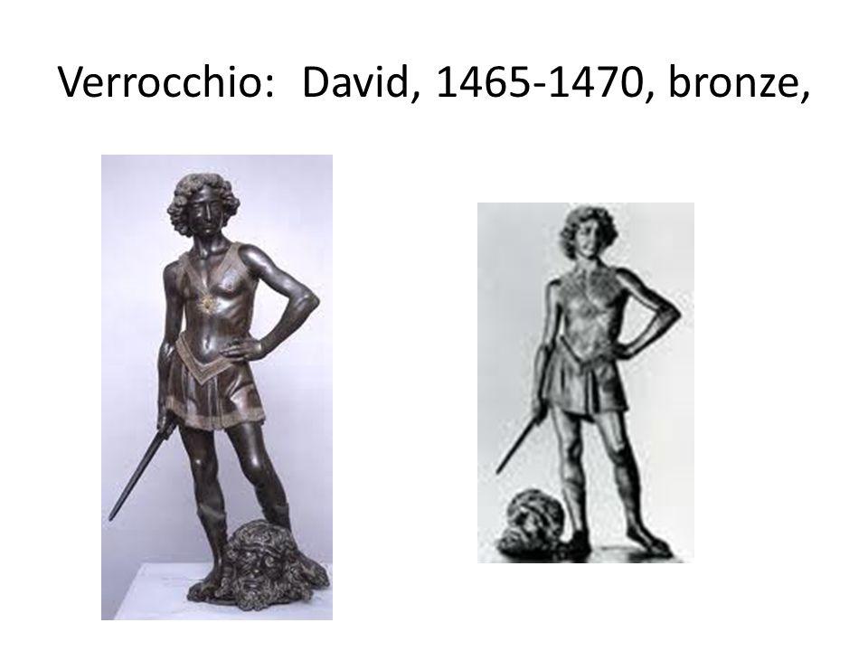 Verrocchio: David, 1465-1470, bronze,