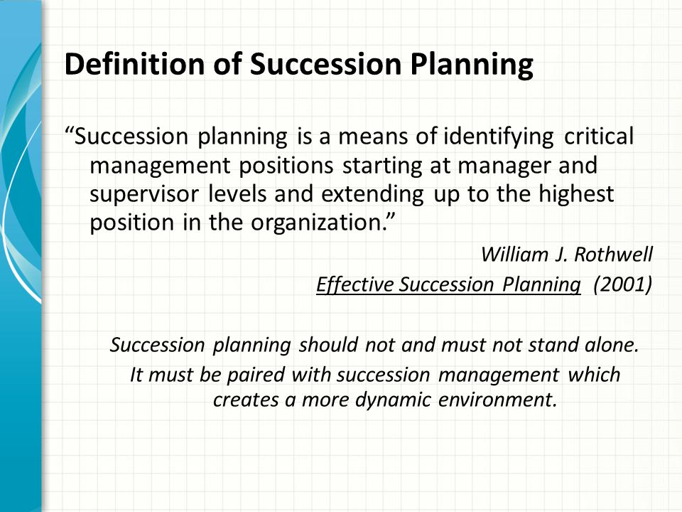 Succession Planning Does your library have an established succession plan.
