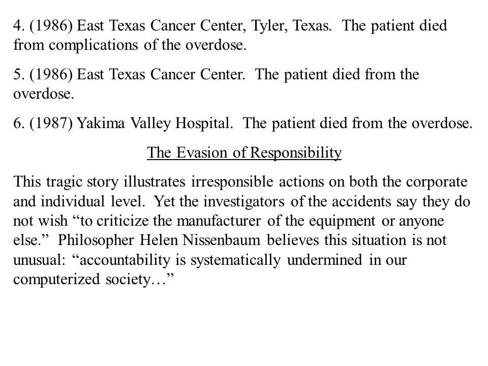 4. (1986) East Texas Cancer Center, Tyler, Texas.
