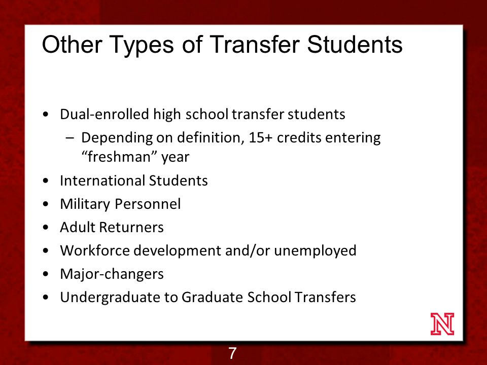 Challenges for Transfer Students Articulation Agreements –Shopping Around (both colleges and majors) Lost Costs –$7 billion/yr in credits not helping students move toward degree requirements (Smith, 2010) Transfer Shock/Culture Shock (Transfer Coma (Whitfield, 2005) ) Lack of information from receiving institution Time Management (competing priorities) Academic & Social Engagement/ Connection to Faculty 8