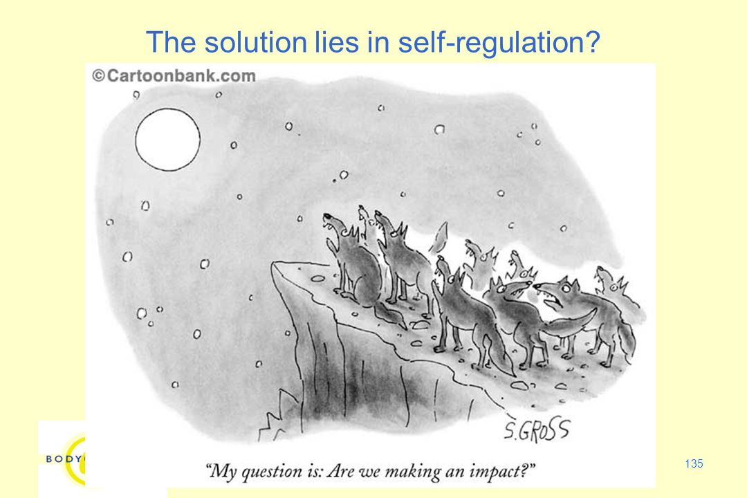 135 The solution lies in self-regulation