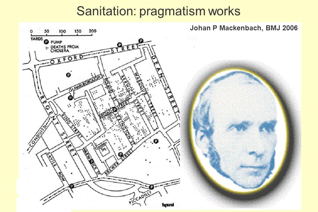 149 Sanitation: pragmatism works Johan P Mackenbach, BMJ 2006