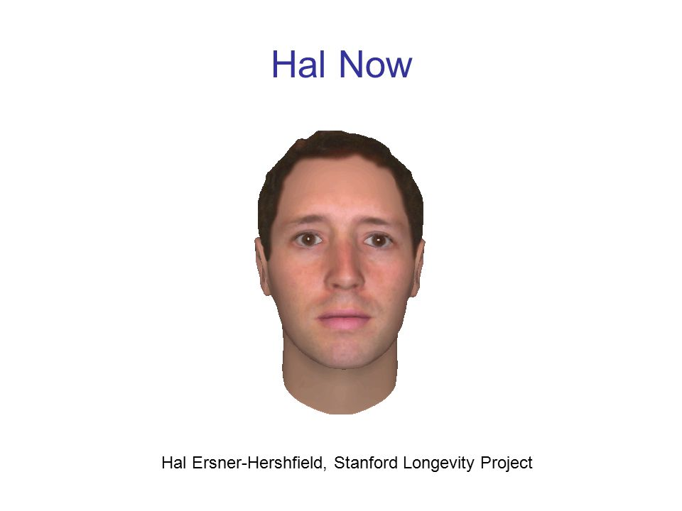 Hal Now Hal Ersner-Hershfield, Stanford Longevity Project