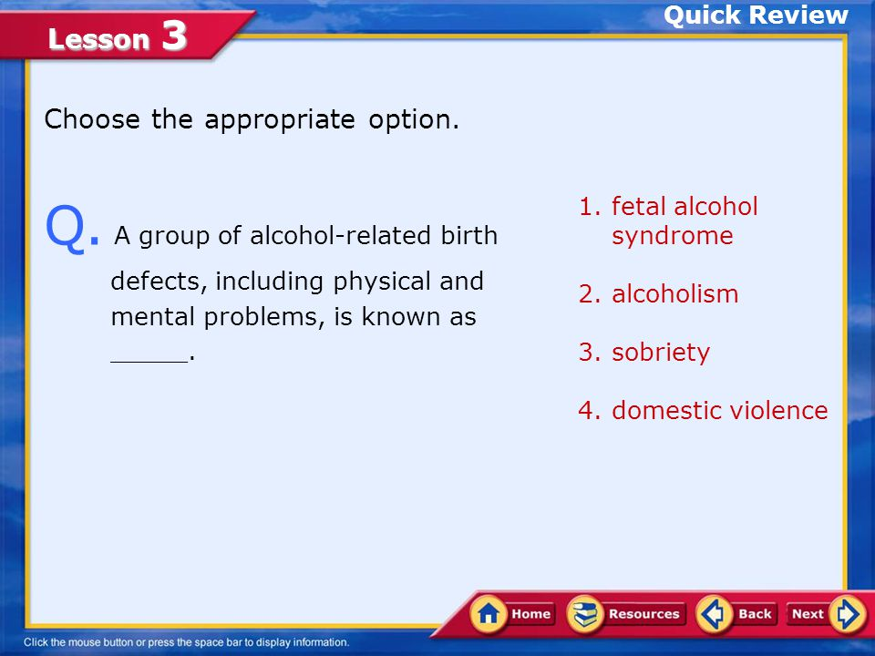 Lesson 3 Where to Get Help for Alcohol Abuse Treatment for Alcohol Abuse