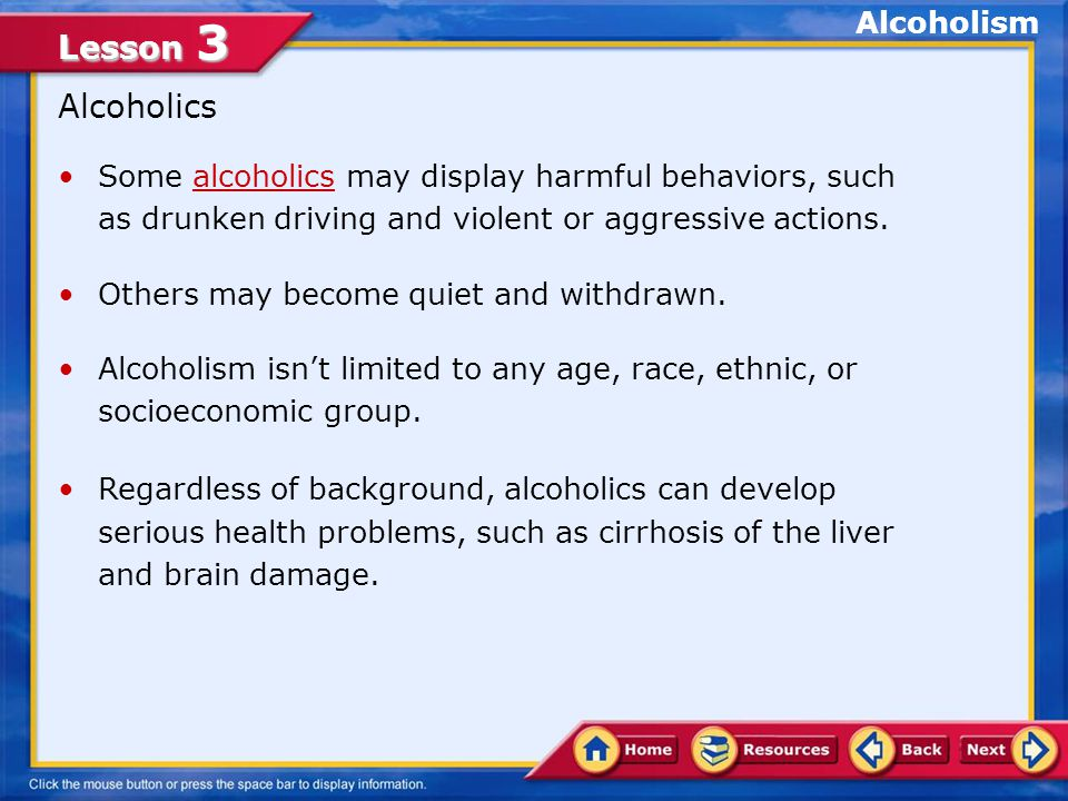 Lesson 3 Quick Review Q.Sobriety is living without an excess of alcohol.