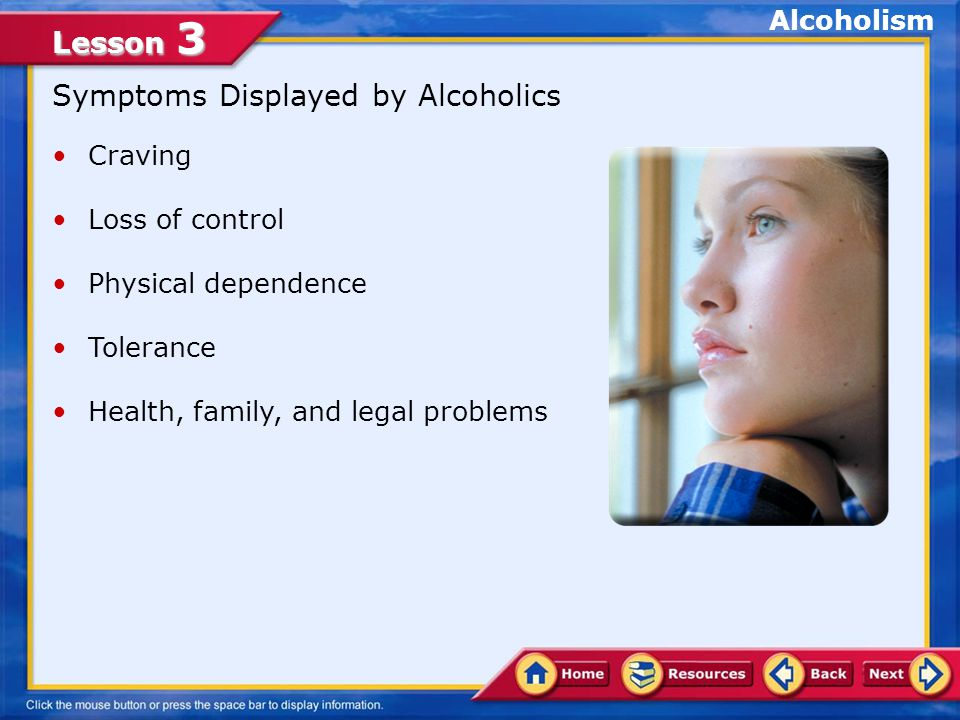 Lesson 3 A.False. Sobriety is living without an excess of alcohol.
