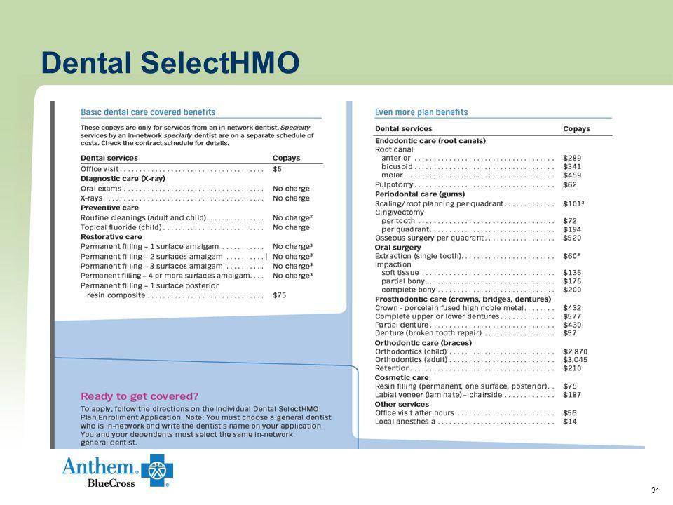 31 Dental SelectHMO