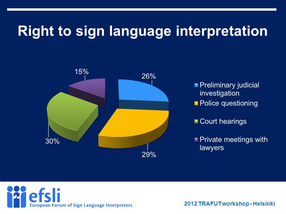 February 2012 www.efsli.org Right to sign language interpretation