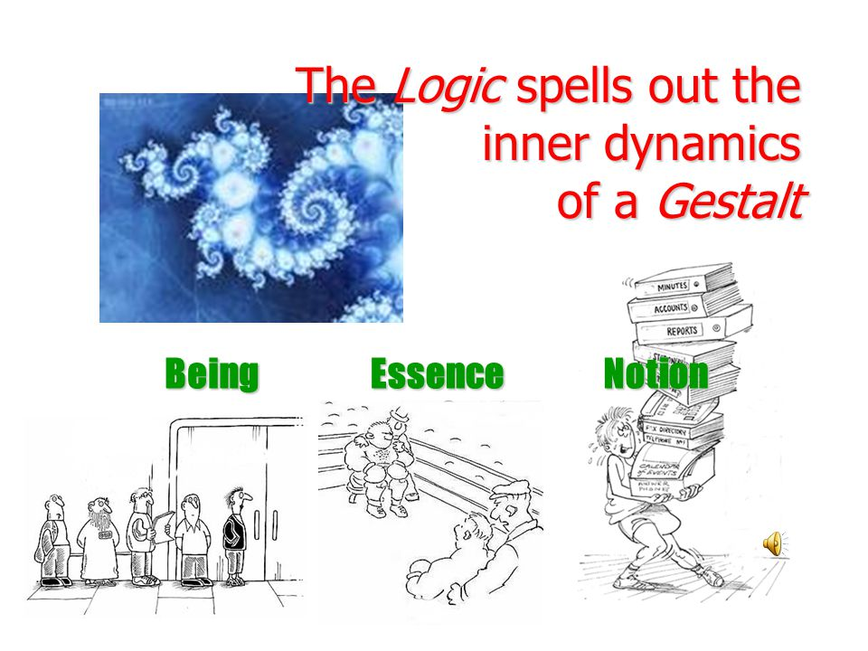 The Logic spells out the inner dynamics of a Gestalt BeingEssenceNotion