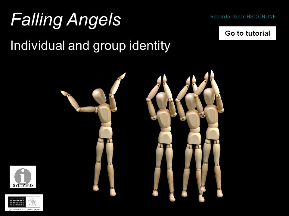Individual and group identity Falling Angels Go to tutorial SYLLABUS Return to Dance HSC ONLINE