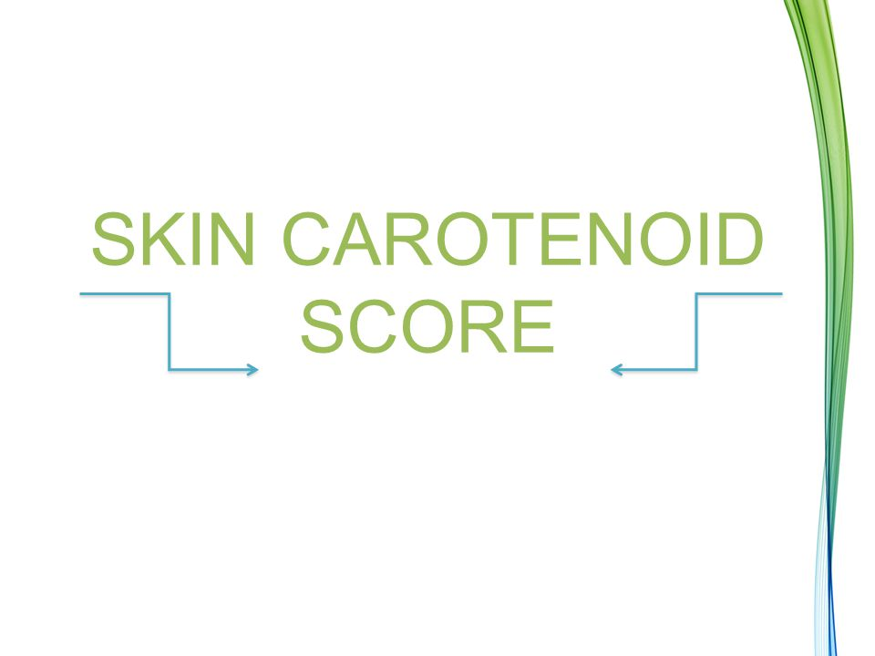 Skin Carotenoid Score (SCS) When a Scanner gives a score it displays both a number and a color.