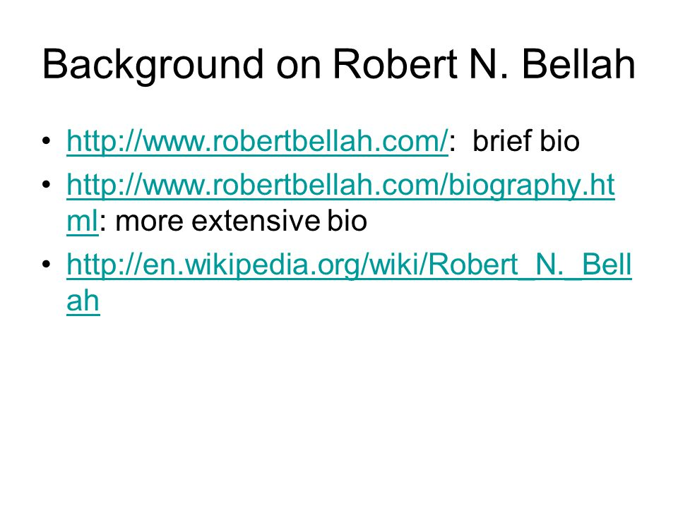Background on Robert N.