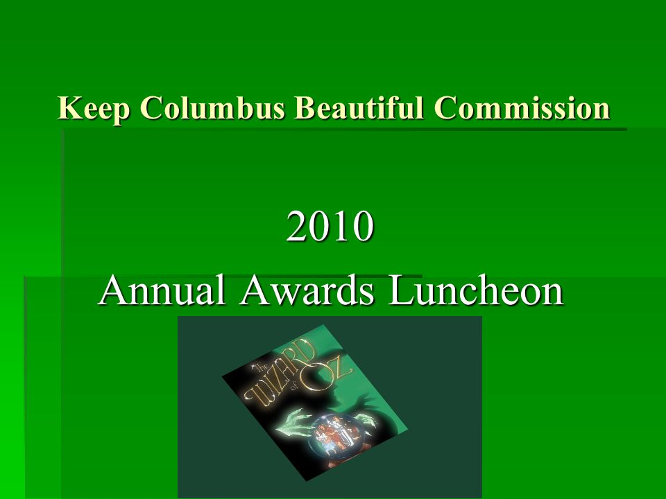 Making Columbus an Emerald City by Going Green!!!