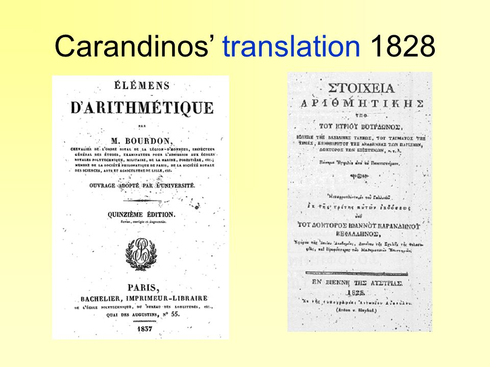 Carandinos' translation 1828
