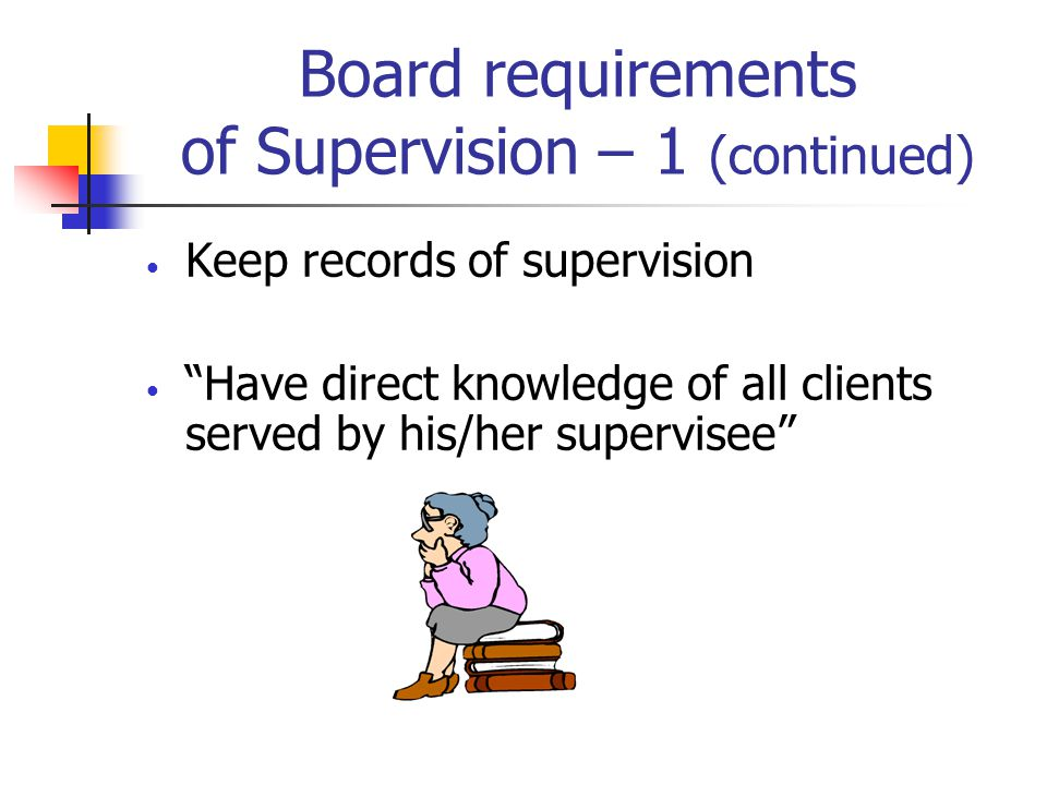 Cautionary statements Using Distance Supervision as an Adjunct Telepsychology supervision may limit a supervisees level of personal contact with supervisor Supervisees may not get time they need to grow in supervision Problems with technology access can interfere with supervision Confidentiality is an issue Requires the supervisee to be more self- directed