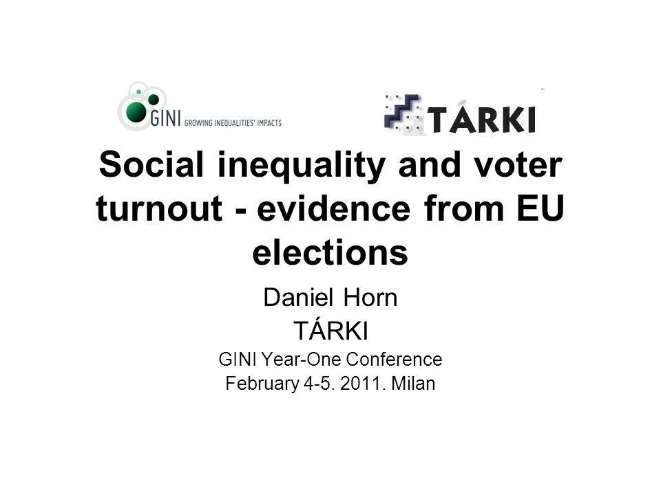 Inequality and turnoutDaniel Horn12 Own calculations Descriptive