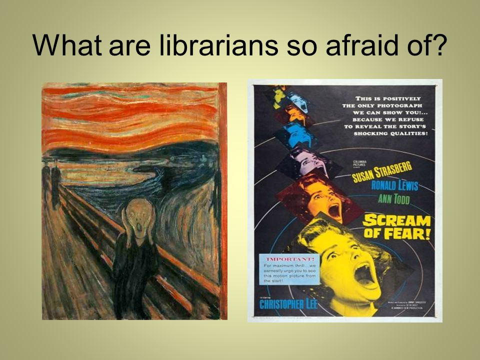 What are librarians so afraid of?