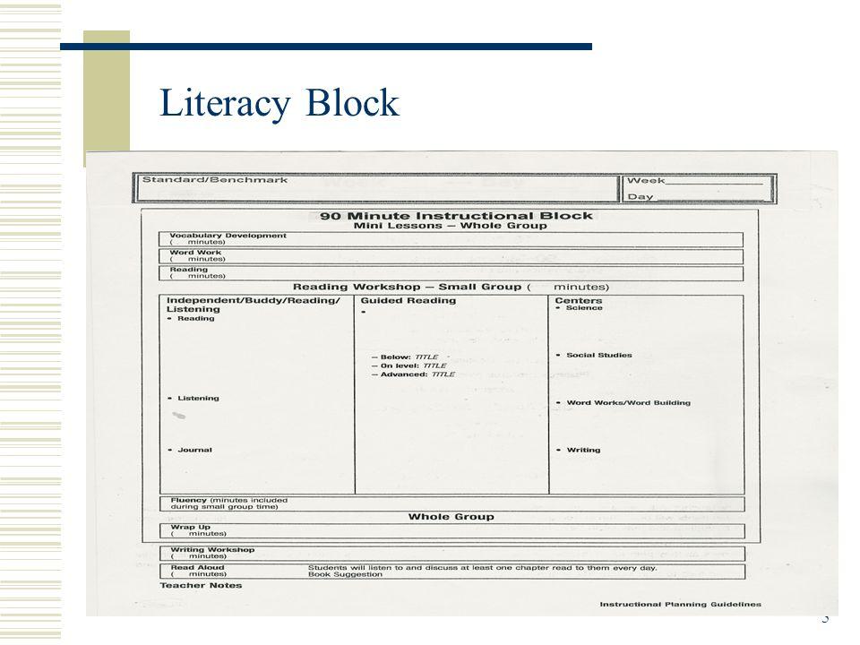 5 Literacy Block