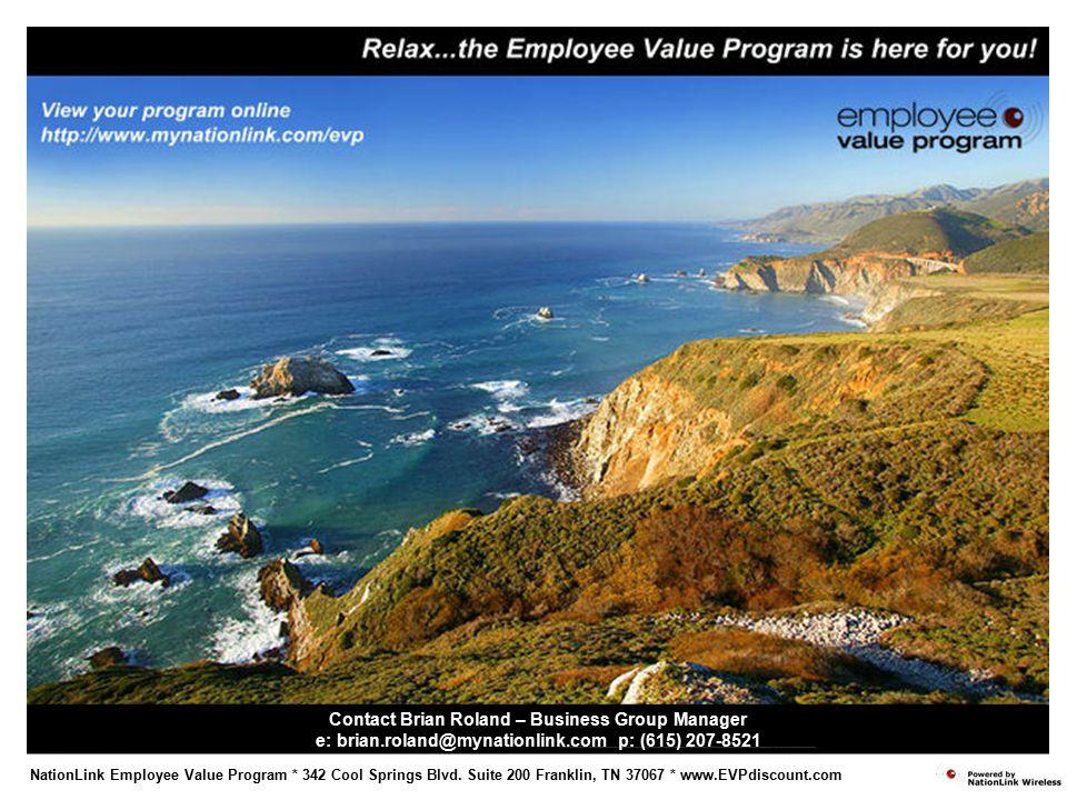 NationLink Employee Value Program * 342 Cool Springs Blvd.