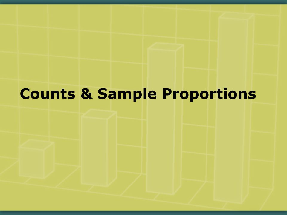 Counts & Sample Proportions
