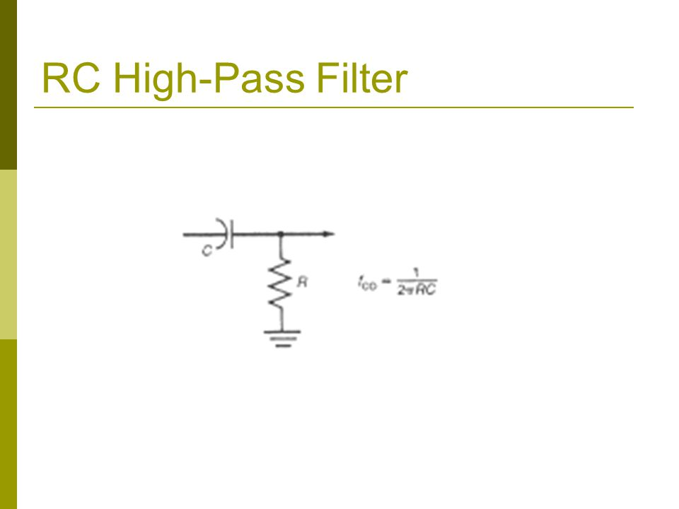 RC High-Pass Filter
