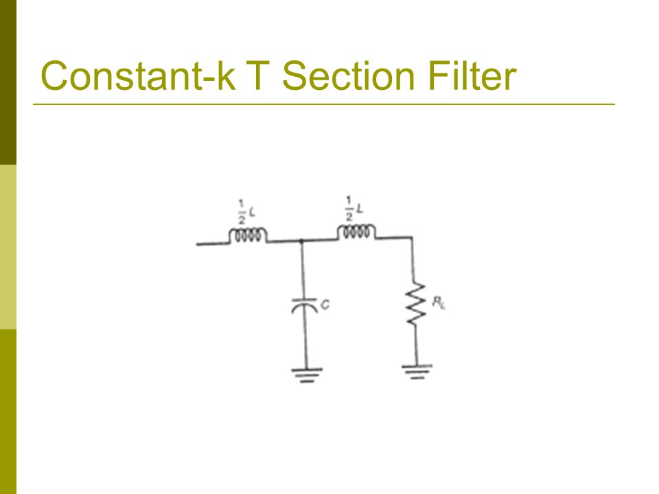 Constant-k T Section Filter