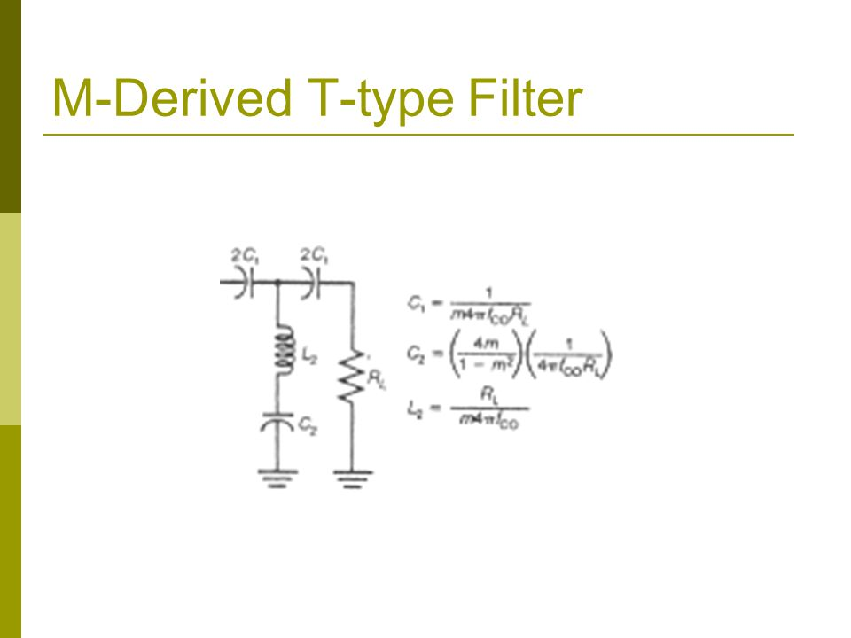 M-Derived T-type Filter