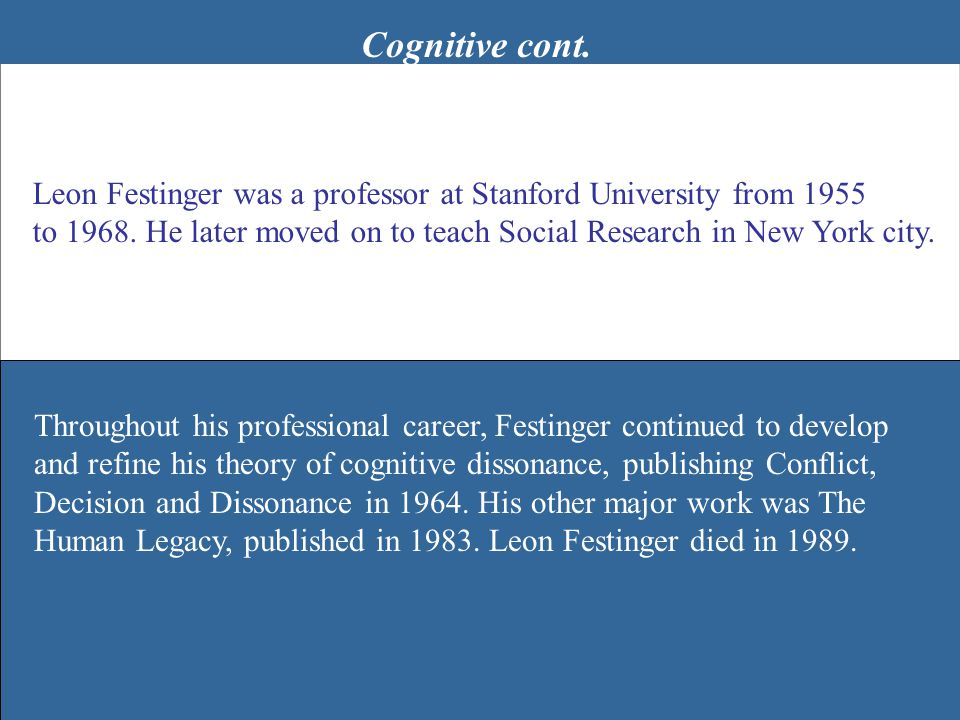 Behaviorism John B.Watson was born on January 9, 1878.
