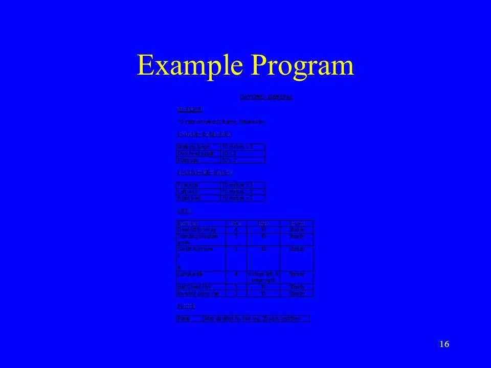 16 Example Program