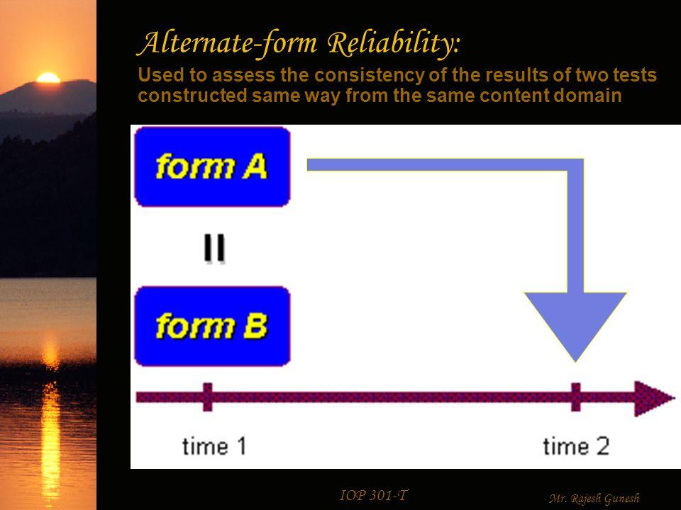 Reliability IOP 301-T Mr. Rajesh Gunesh Reliability  Reliability ...