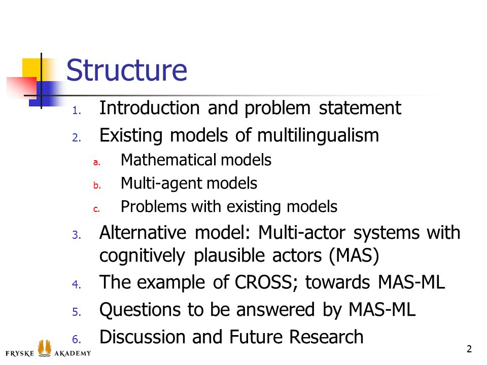 Structure 1. Introduction and problem statement 2.