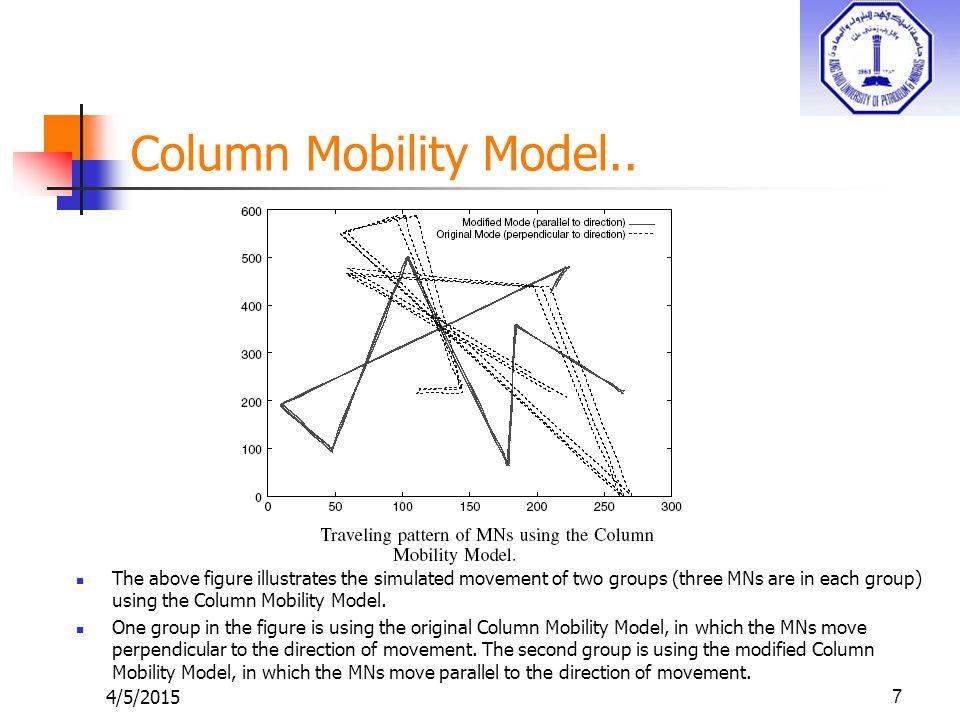 4/5/20157 Column Mobility Model..