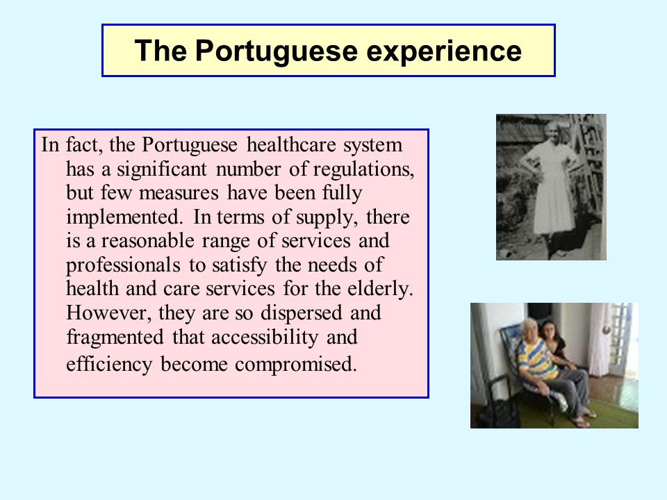 In fact, the Portuguese healthcare system has a significant number of regulations, but few measures have been fully implemented. In terms of supply, t