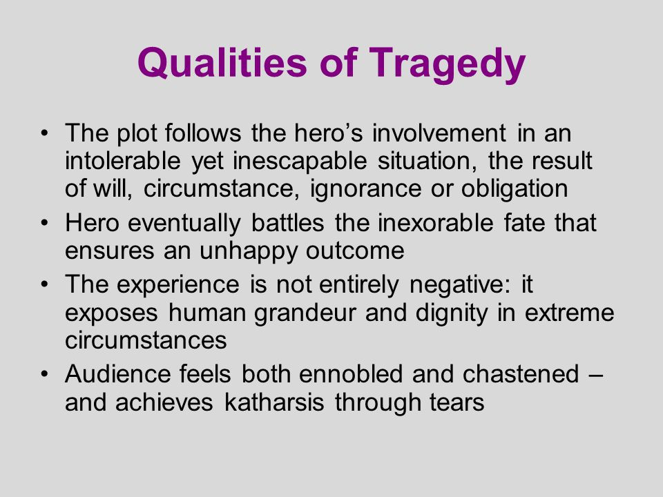 Development of Tragedy Romans (esp.