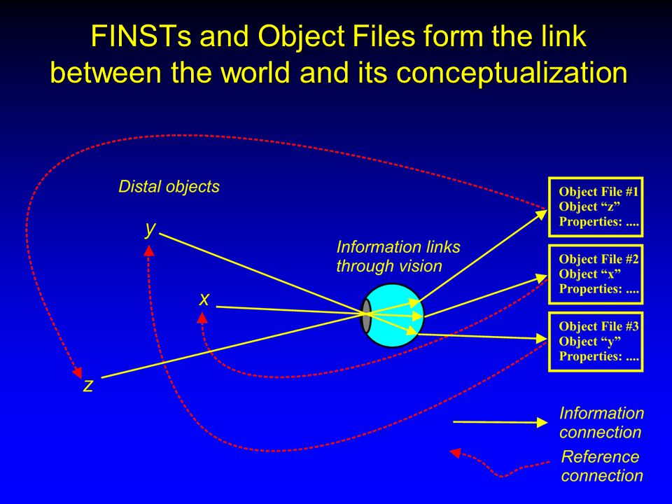FINSTs and Object Files form the link between the world and its conceptualization