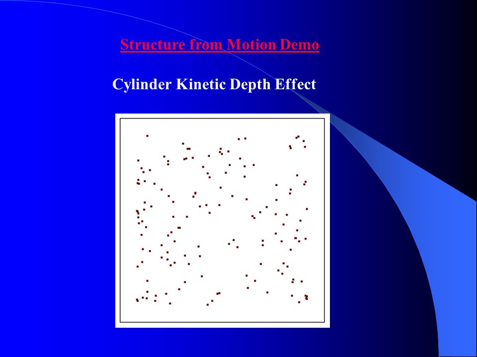 Structure from Motion Demo Cylinder Kinetic Depth Effect
