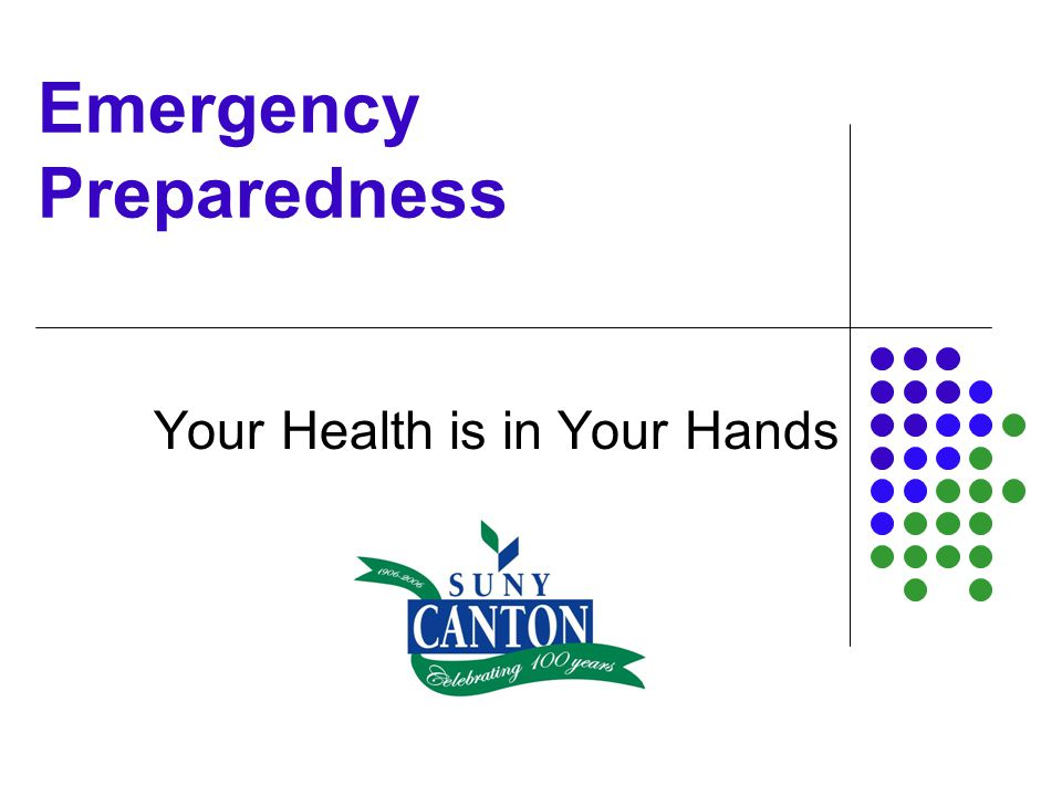 Your Health is in Your Hands..