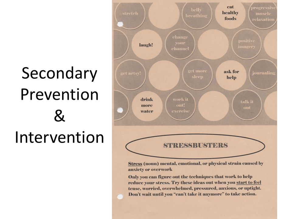 Secondary Prevention & Intervention