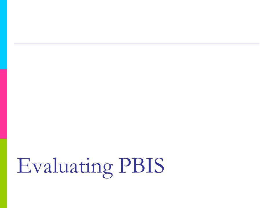 Evaluating PBIS