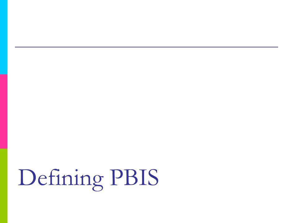 Defining PBIS