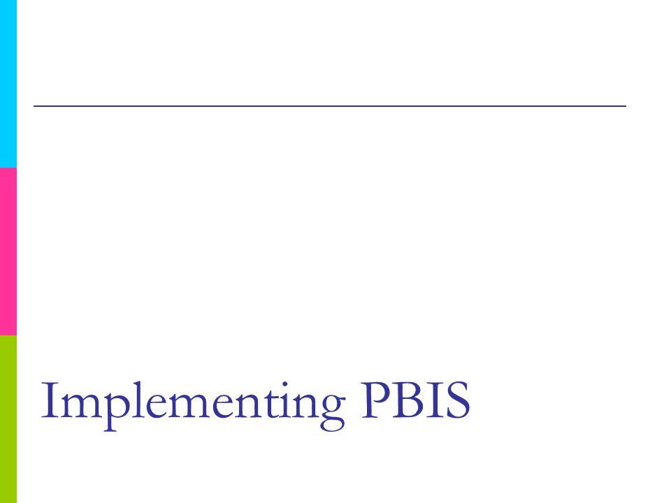Implementing PBIS