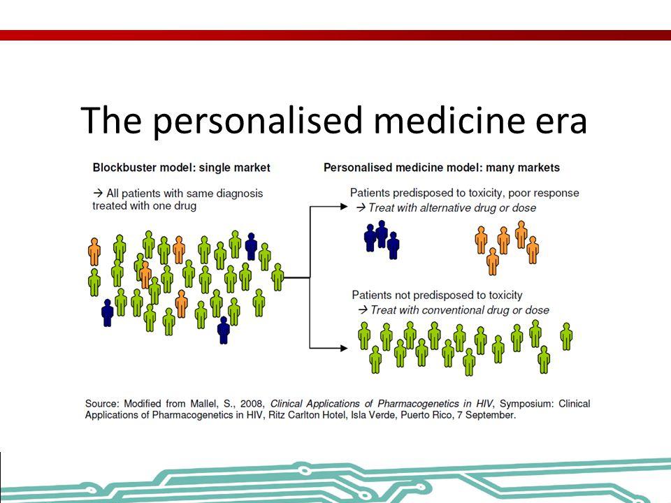 The personalised medicine era