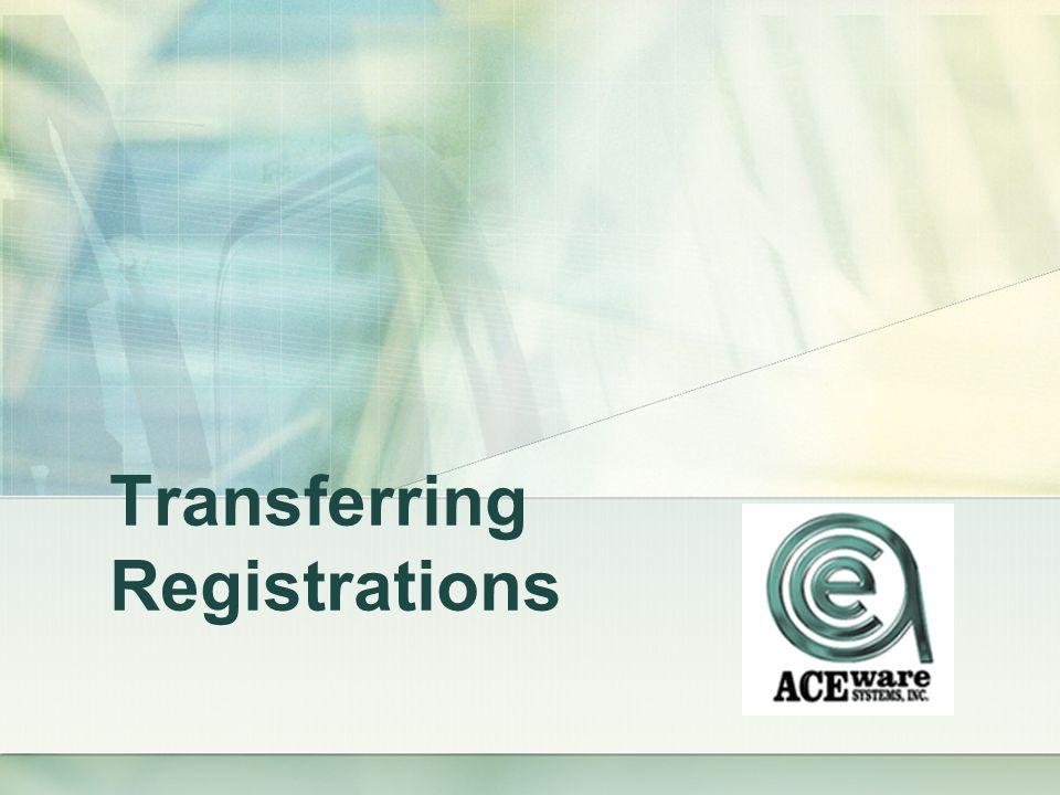 Transferring Registrations