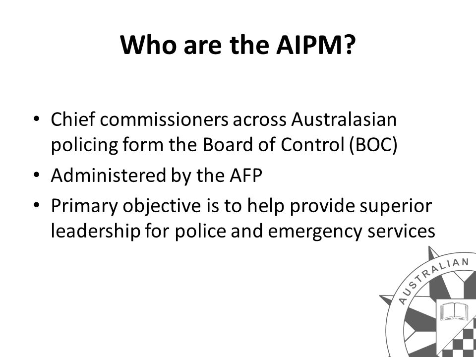 Who are the AIPM.