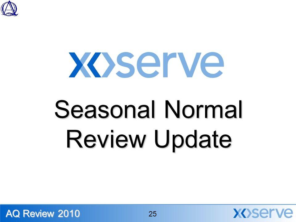 Seasonal Normal Review Update AQ Review 2010 25