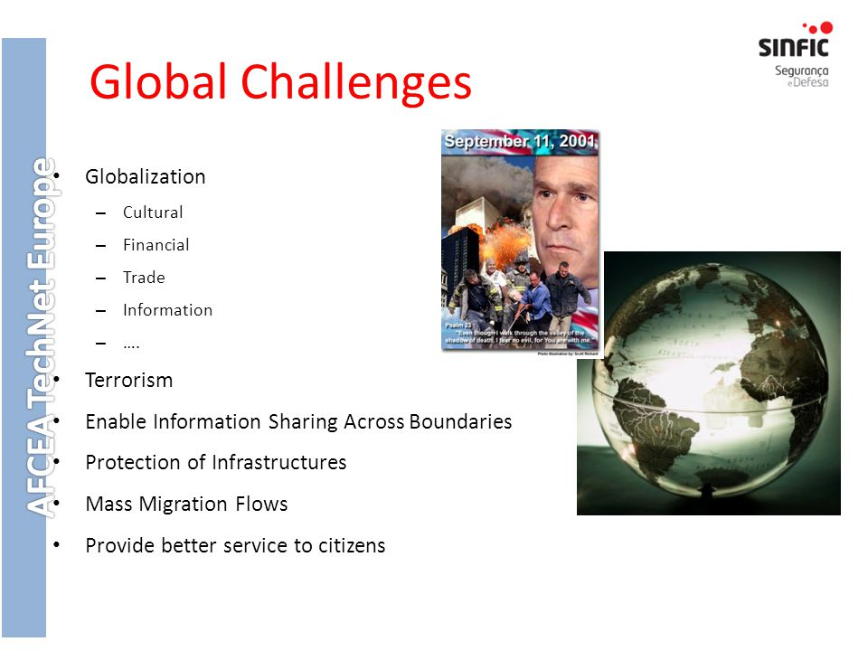 Global Challenges Globalization – Cultural – Financial – Trade – Information – ….