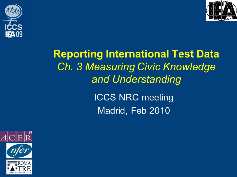 Reporting International Test Data Ch.